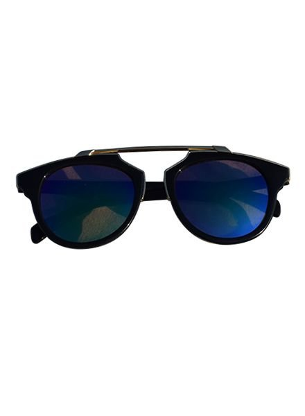 Unique urban rock sunglasses with edgy green lenses