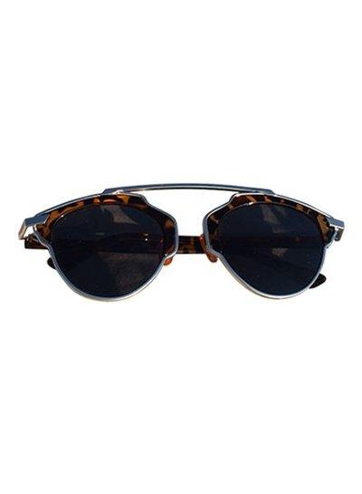 Unieke urban rock zonnebril met luipaard montuur