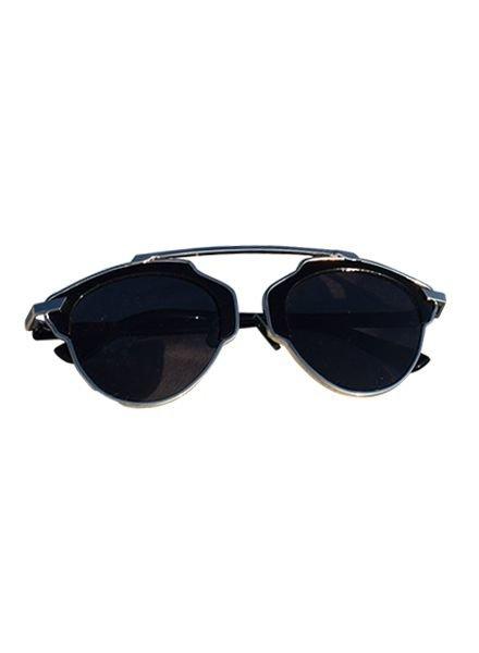 Unieke urban rock zonnebril met zwart montuur