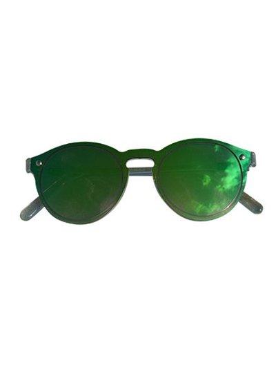 Edgy rock chique zonnebril met weerspiegeling