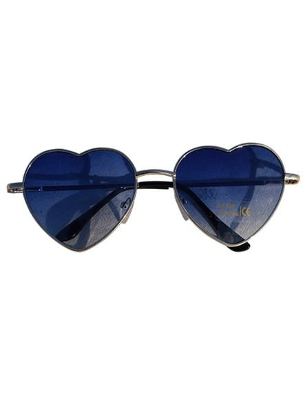 Trendy hartjes zonnebril blauw