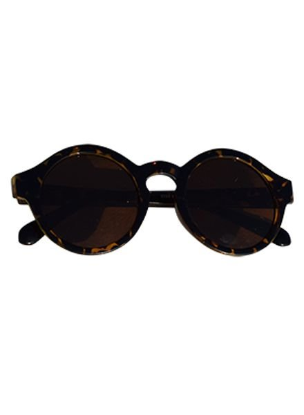 Urban style sunglasses with round lenses leopard