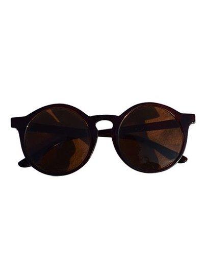 Urban stijl zonnebril met ronde glazen bruin