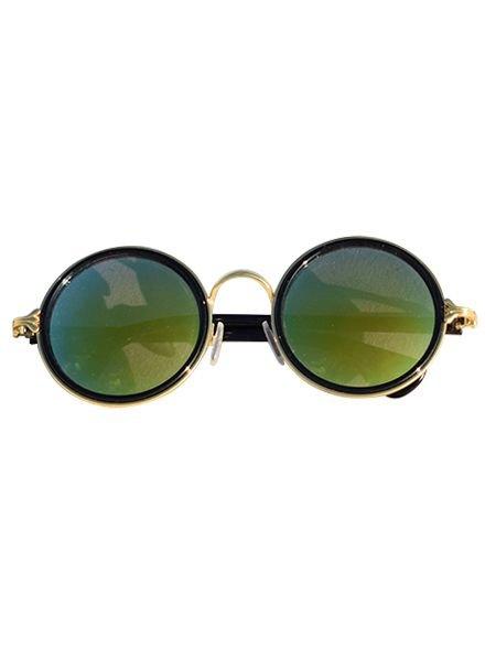 Coole urban stijl zonnebril met ronde glazen groen