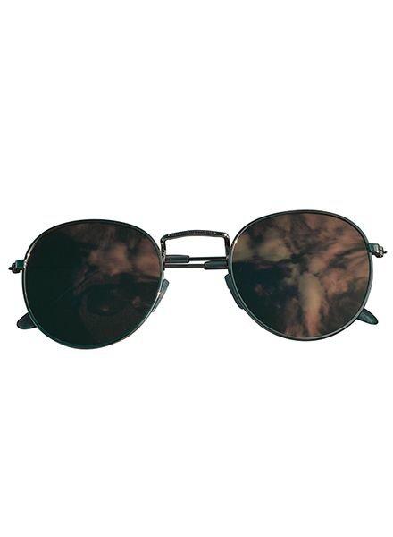 Coole urban zonnebril met roze spiegelglazen zilver