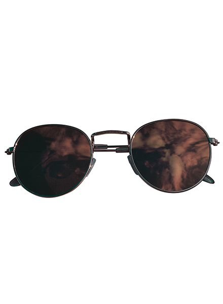 Cool urban sunglasses with pink mirrored lenses gold
