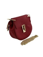 Round minimalist chic crossbody purse red