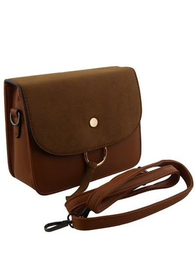 Minimalist chic crossbody purse camel