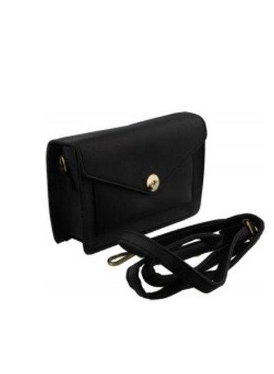 Kleine minimalistische crossbody tas zwart