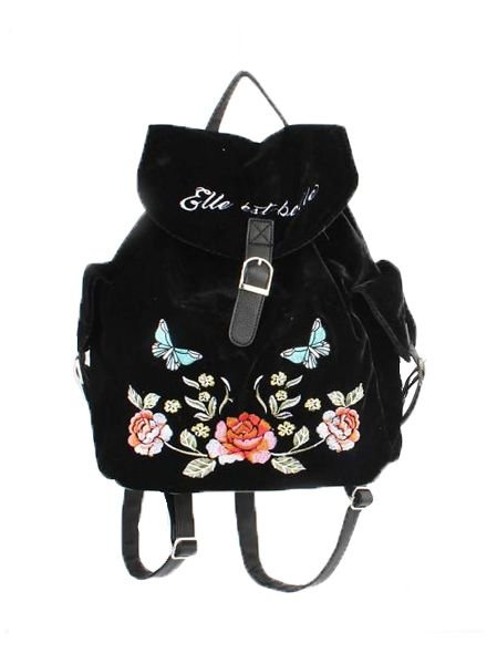 Cool velvet backpack