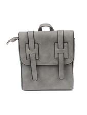 Cool minimalistic chic mini backpack grey