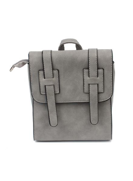 Cool minimalistic chic mini backpack grey
