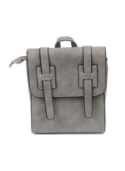 Stoer minimalist chic rugtasje grijs