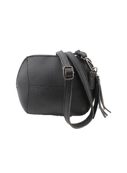 Kleine minimalist chic tas zwart
