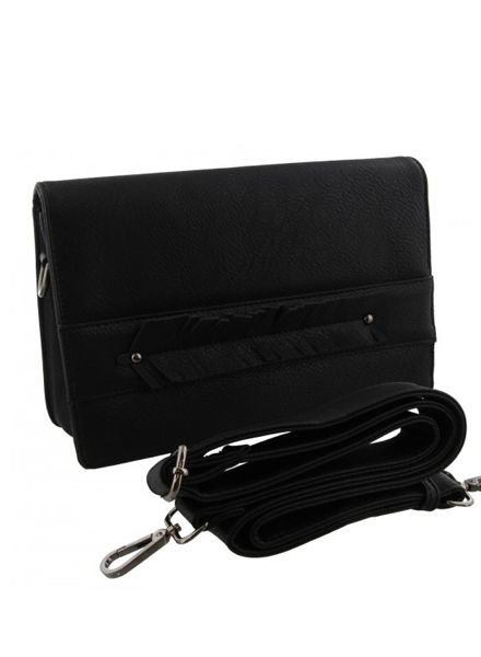 Cool crossbody bag with feather black