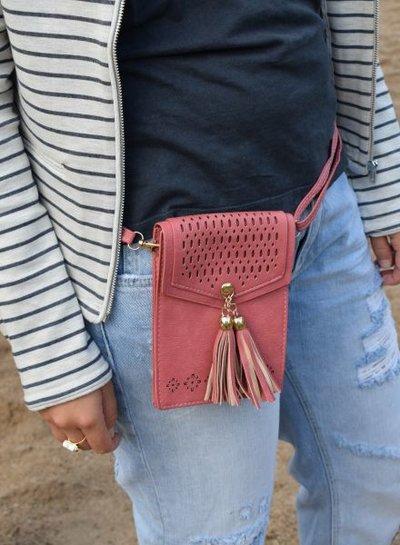 Petit hip bag with gorgeous details pink