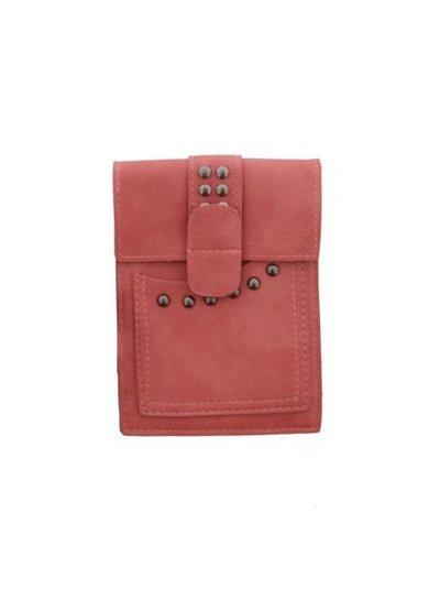 Petit hip bag with studs pink