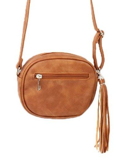 Kleine minimalist chic tas camel