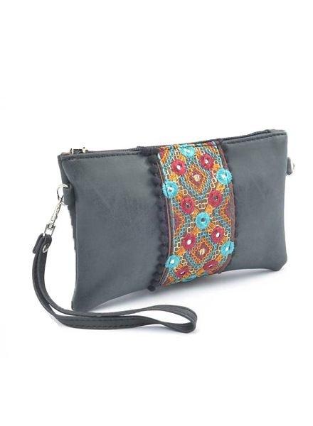 Bohemian purse black