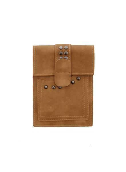 Petit hip bag with studs camel