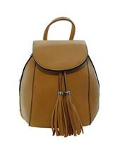 Minimalistic chic mini backpack yellow
