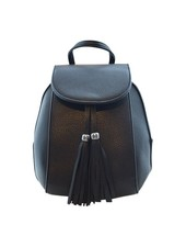 Minimalistic chic mini backpack black