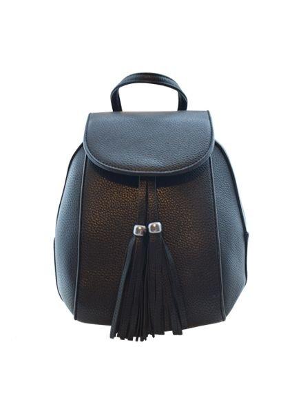 Minimalistic chic mini backpack black