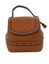 Minimalistic chic camel mini backpack detailed