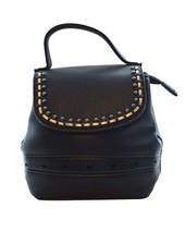 Minimalist chic rugtasje zwart met mooie details