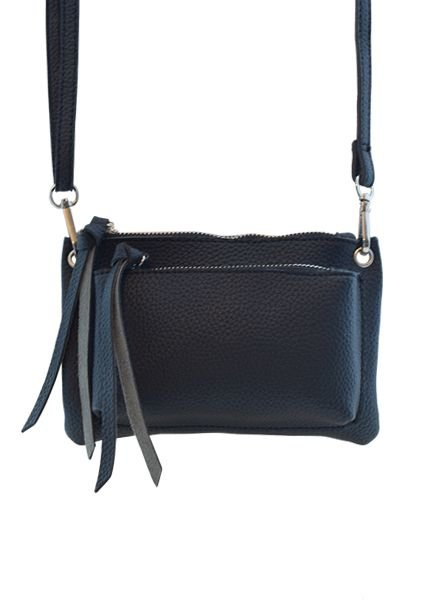 Black minimalist chic crossbody bag