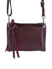 Red minimalist chic crossbody bag