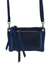 Blue minimalist chic crossbody bag