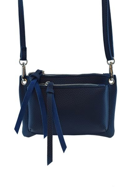 Blue minimalist chic crossbody bag