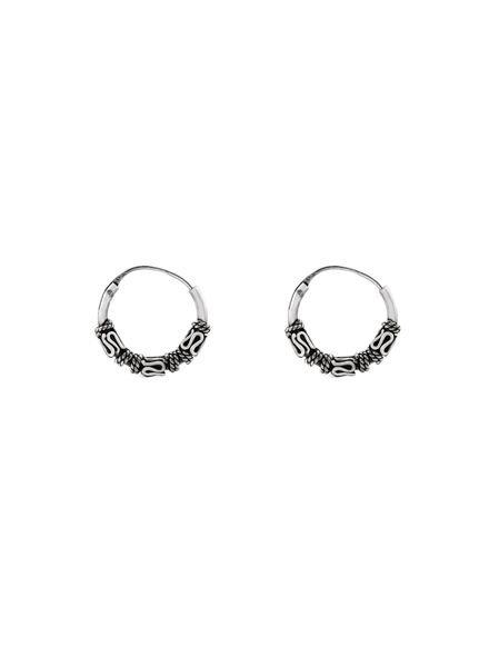 925 sterling zilver minimalistische oorringen Lombok 12mm