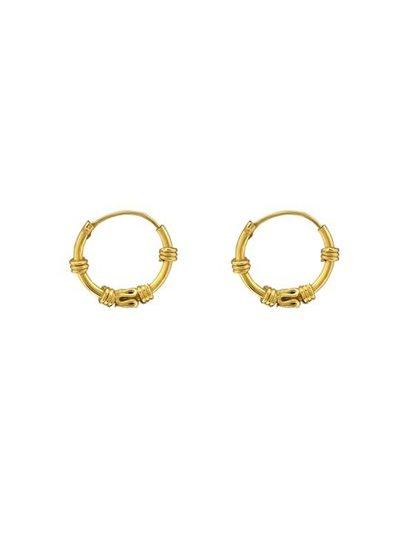 925 sterling zilver minimalistische oorringen Gili 12mm gold plated