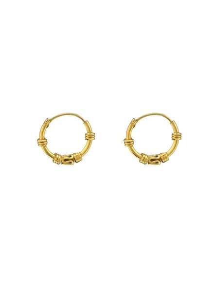 925 sterling silver minimalistic earrings Gili 12mm gold plated