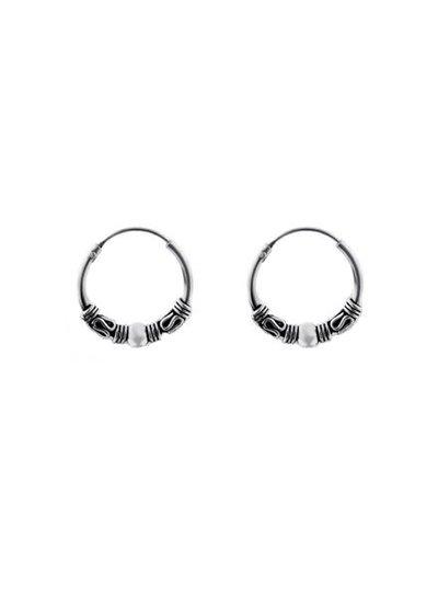 925 sterling zilver minimalistische oorringen Bali 14mm