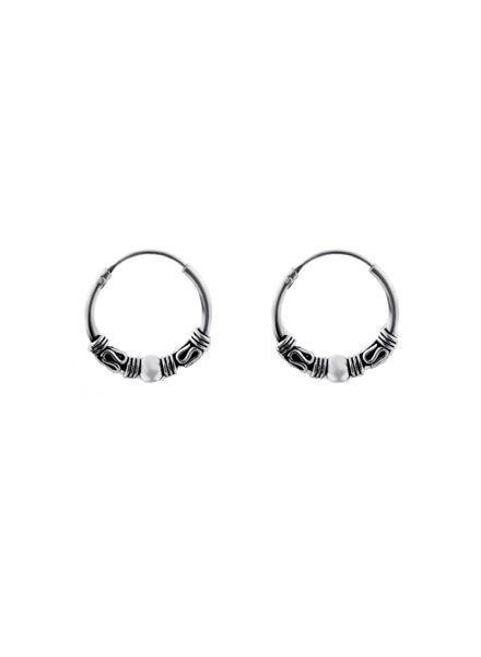 925 sterling silver minimalistic earrings Bali 14mm