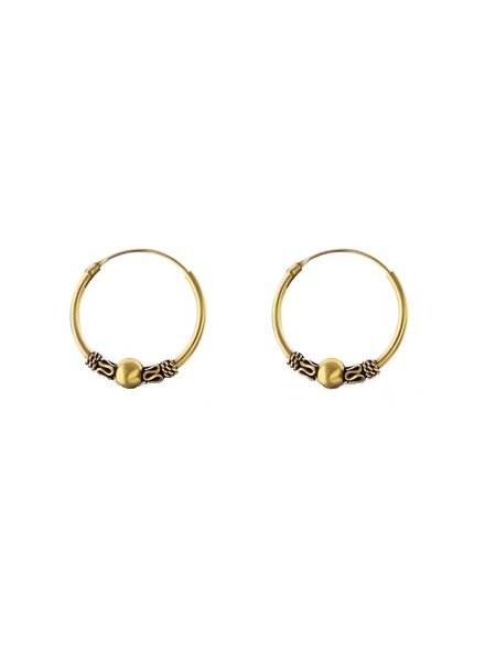 925 sterling silver minimalistic earrings Bali 18mm gold plated