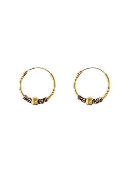 925 sterling zilver minimalistische oorringen Bali 18mm gold plated