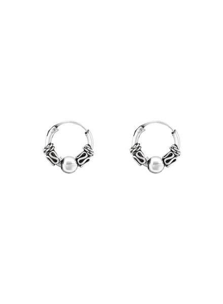 925 sterling zilver minimalistische oorringen Bali 10mm