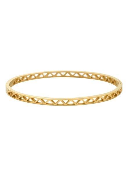 Minimalist chic bangle armband driehoekjes goudkleurig