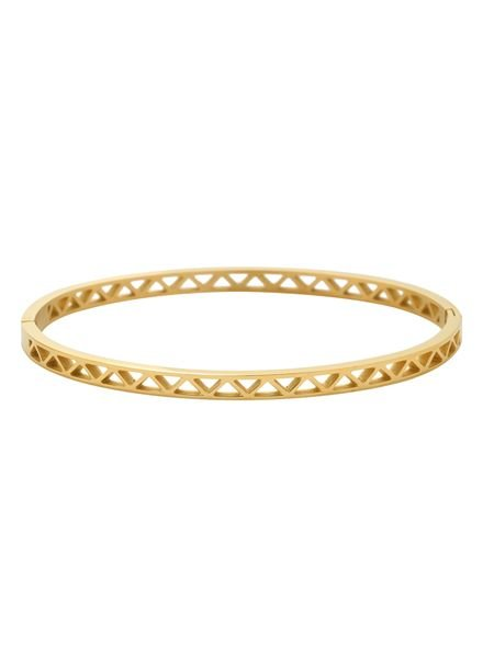 Minimalist chic bangle bracelet triangles gold colored