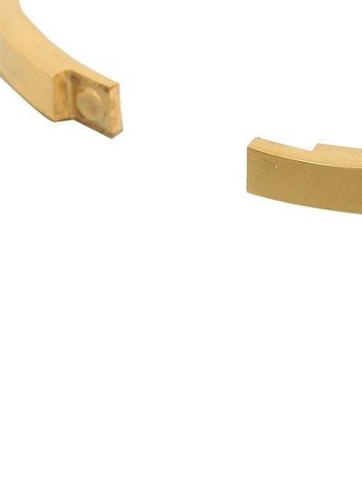 Minimalist chic bangle bracelet triangles gold colored