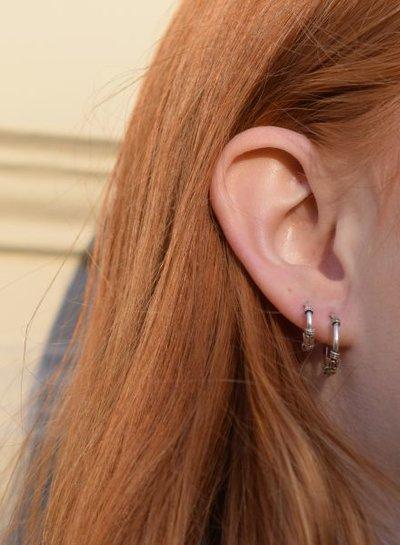 925 sterling zilver minimalistische oorringen Gili 12mm