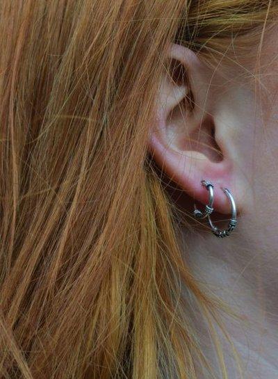 925 sterling zilver minimalistische oorringen Bangli 12mm