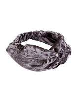 Trendy velvet headband grey