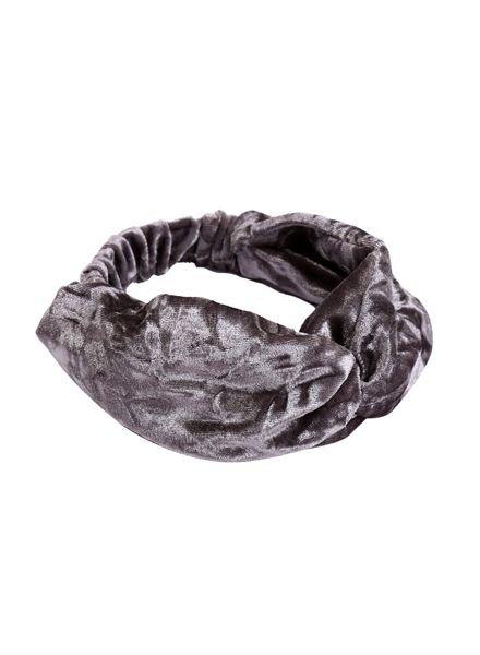Trendy fluwelen haarband grijs