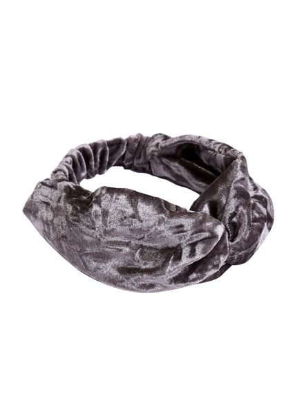 Trendy velvet headband grey