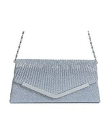 Chic sparkle shoulder bag grey